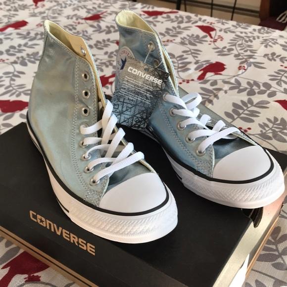 ba6d08d9cc Converse Shoes | Light Blue Metallic Nwt Some Free Home | Poshmark